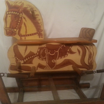 kids wooden spring horse - Animals