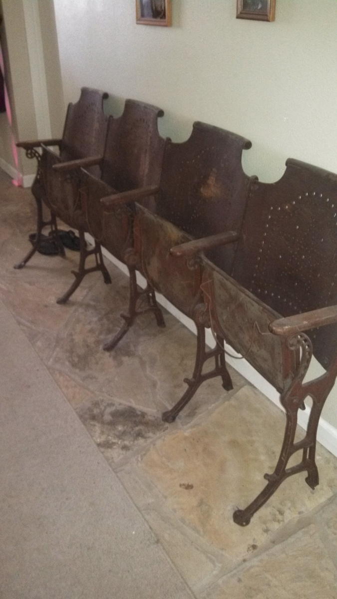 vintage cast iron cafe folding chairs