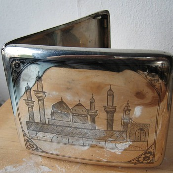 Silver cigarettebox Iraq 1920-1940