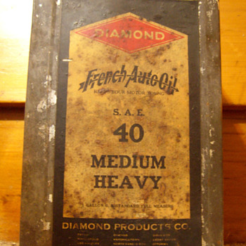 Diamond French Auto Oil Can