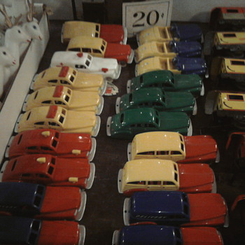 Dime store vintage cars...