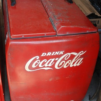 Vintage Coca Cola Cooler Large with Motor