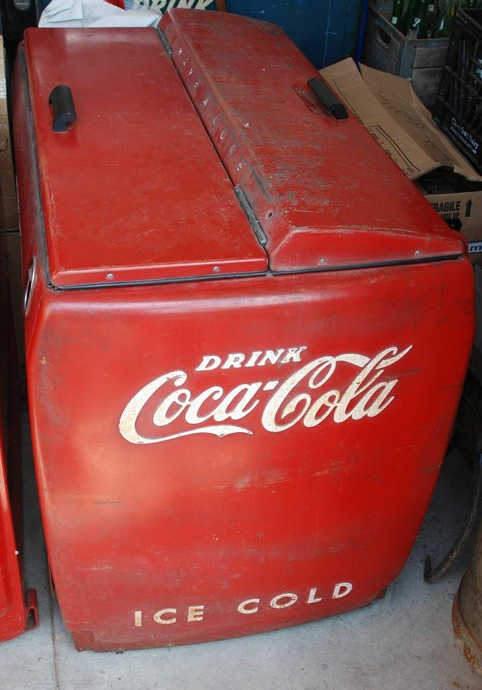 Vintage coca cola cooler large with motor collectors weekly for 1 door retro coke cooler