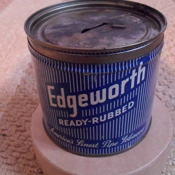 Edgeworth tobacco tin.
