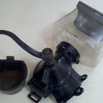 Antique coffee grinder/jar - Kitchen