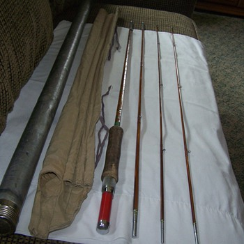 "Vintage MONTAGUE - FLASH"" SPLIT BAMBOO FLY FISHING ROD 9' (3/2)"