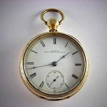 Scarce 1st Year Production 2nd Run Illinois Bunn - Pocket Watches