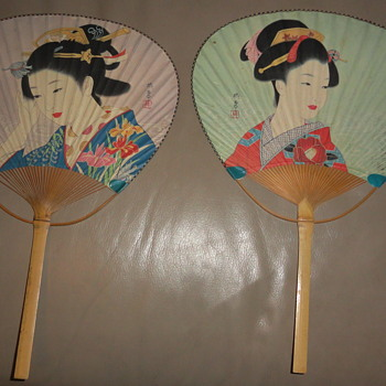 japanese fans signed ?? are they vintage or Modern  - Asian