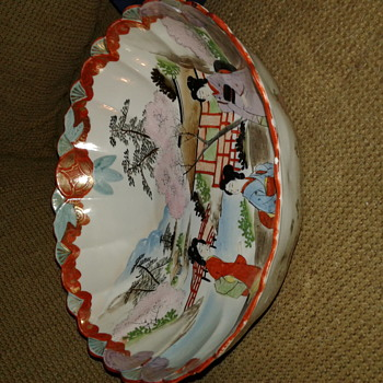 Antique Japanese ? Chinese ? Hand painted porcelain  bowl  - Asian