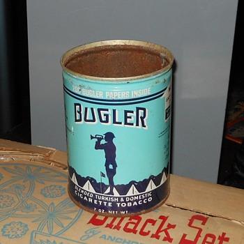 Vintage Bugler Tobacco Can