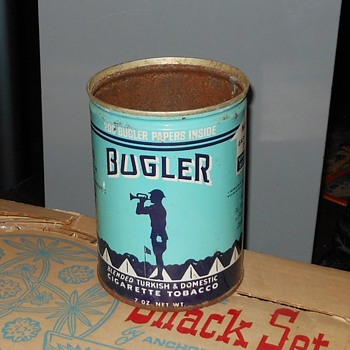 Vintage Bugler Tobacco Can - Tobacciana
