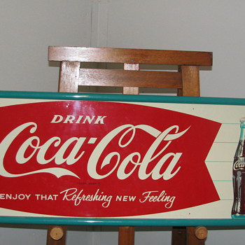 Vintage Coca-Cola Tin Sign - Coca-Cola