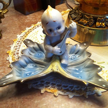 Kewpie Butterfly Dish - Figurines