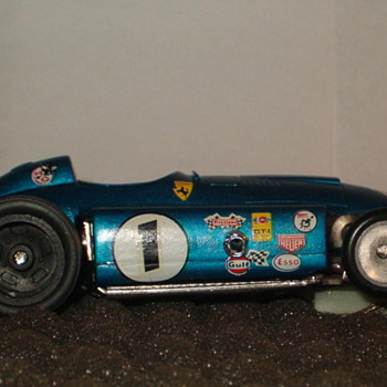 1/24TH FERRARI LANCIA D50 IN BLUE AMT CHASSIS HAWK BODY
