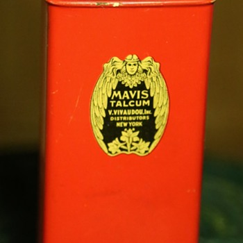 Mavis Talcum Powder Tin Container
