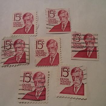 Oliver Wendell Holmes 15cents USA Stamp
