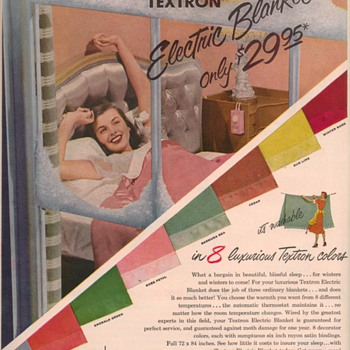 1950 Textron Blankets Advertisement - Advertising