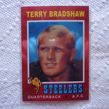 2012 Topps Chrome Terry Bradshaw Reproduction RC - Football