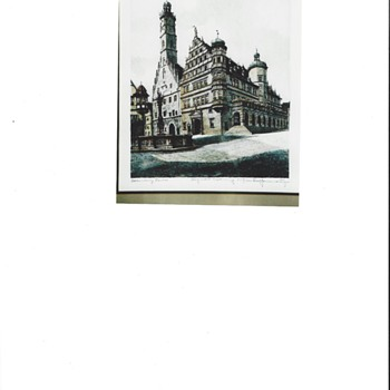 etching print of Rotemburg  Germany