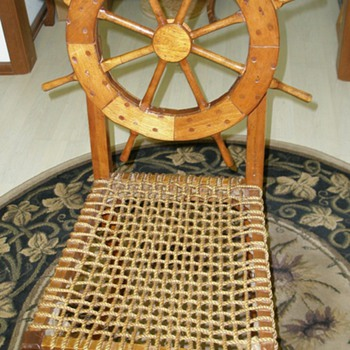 Ships Wheel Rope Chair