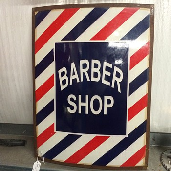 Barber shop sign 1940's