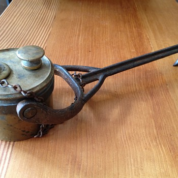 What is this Brass oil lamp used for?