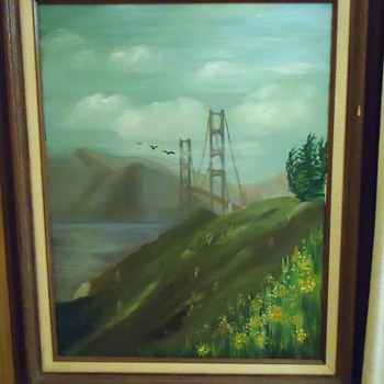 Oil Painting Who Is Judith Anne Washington? Golden Gate Bridge - Visual Art