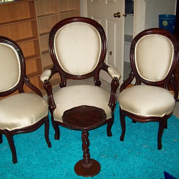 great-grandmother's chairs and mother's table - Furniture