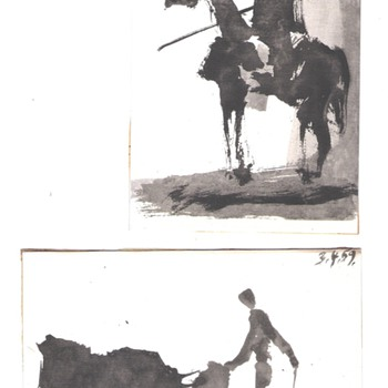 Four Picasso Bullfighting Postcards - Postcards