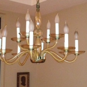 Glass chandelier - Lamps