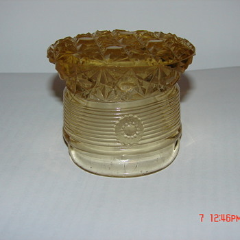 Vintage Unknown Glass Hat - Art Glass