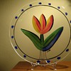 KOSTA BODA -SWEDEN-ULRICA HYDMAN VALLIEN &quot;13&quot;  HANDPAINTED PLATE
