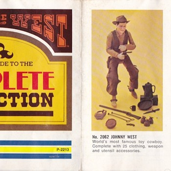 Marx Johnny West Best of the West Pamphlet 1974 - Toys