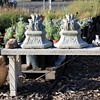 Cast stone sconces - 2 large and heavy