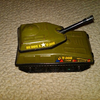 Buddy L T-308 tank  - Model Cars