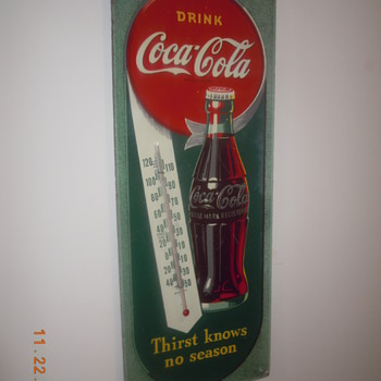1944 Coca-Cola Thermometer Sign - Coca-Cola