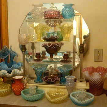 other fenton hobnail items in many colors - Glassware