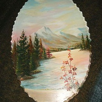Vintage Reverse Painted Picture on GLASS