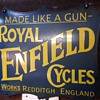 Royal Enfield Enamel Advertising Sign