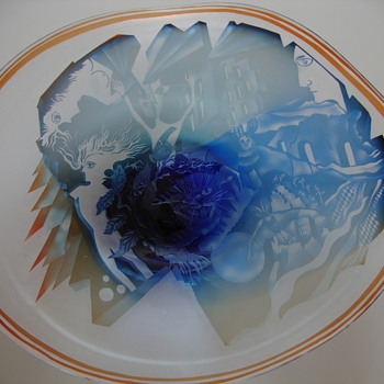 glass dish by jean paul raymond - Art Glass