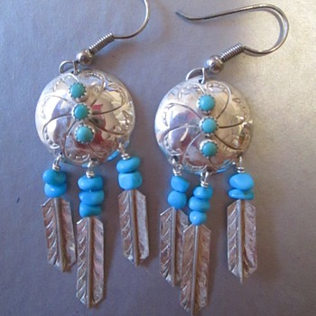 Native American-made earrings