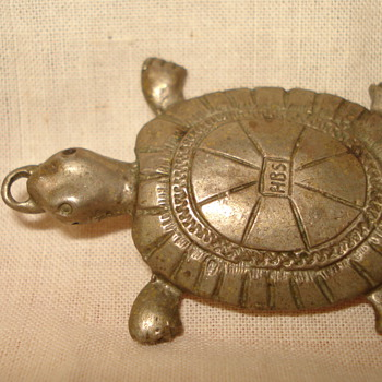 "TURTLE PENDANT BY HBS ""NEED YOUR HELP WITH INITIALS"""