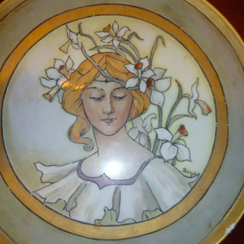 Art Nouveau Limoges Charger?  Value?