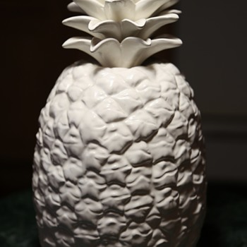 Life-size White Pineapple - Art Pottery