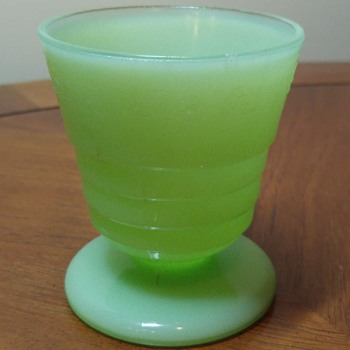 Jadite Footed Tumbler