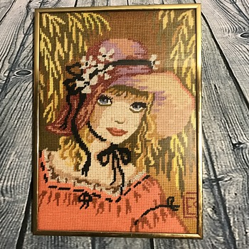 Another Beautiful Vintage Needlepoint  - Visual Art