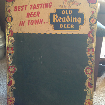 Old Reading Beer Chalkboard TOC - Breweriana