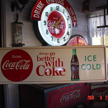 1960&#039;s Coca-Cola Tin Sign - Coca-Cola