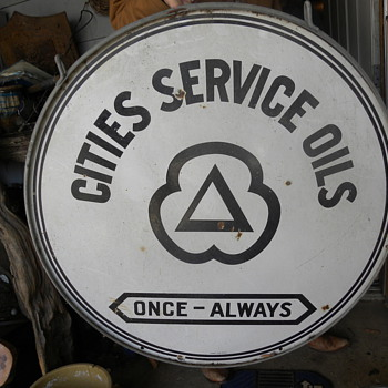 cities  service oil sign - Advertising
