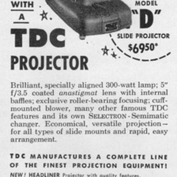1953 - TDC Slide Projector Advertisement - Advertising
